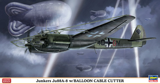Ju88A-8 w/BALLOON CABLE CUTTER