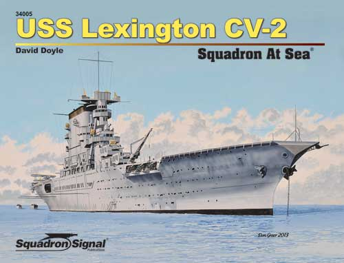 USS LEXINGTON CV-2 AT SEA