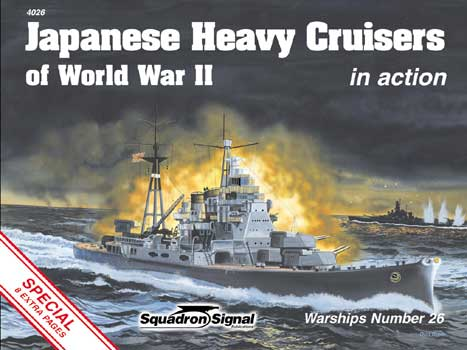 JAPANESE HEAVY CRUISERS IN ACTION