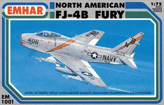 NORTH AMERICAN FJ-4B FURY       1/72