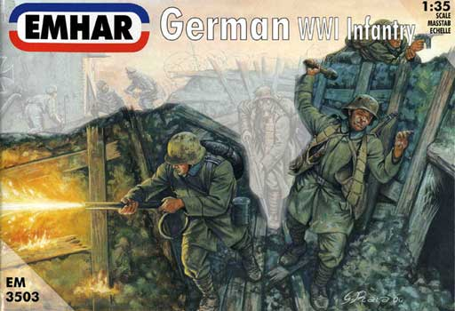 INFANTERIE ALLEMANDE et EQUIPAGE CHARS WWI        1/35