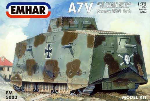 A7V GERMAN WWI TANK           1/72