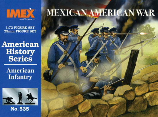MEXICAN WAR AMERICAN INFANTERY        1/72