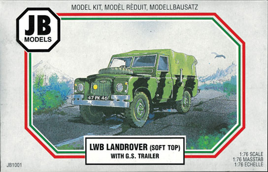 LAND ROVER SOFT TOP w/GS TRAILER  1/76