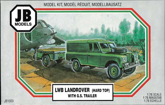 LAND ROVER HARD TOP w/GS TRAILER 1/76