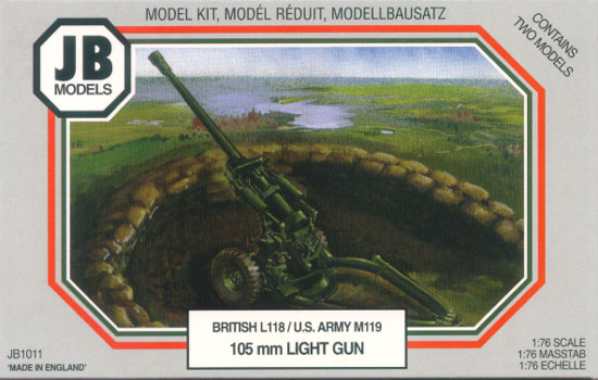 105mm LIGHT GUN British L118/US Army M119 1/76