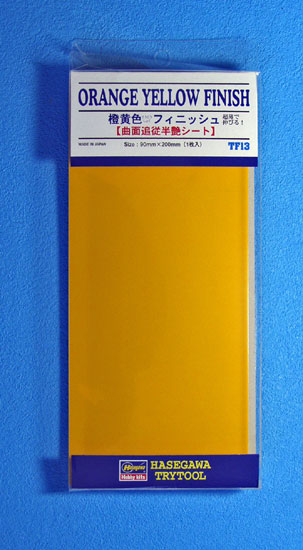 PLAQUE ADHESIVE JAUNE ORANGE
