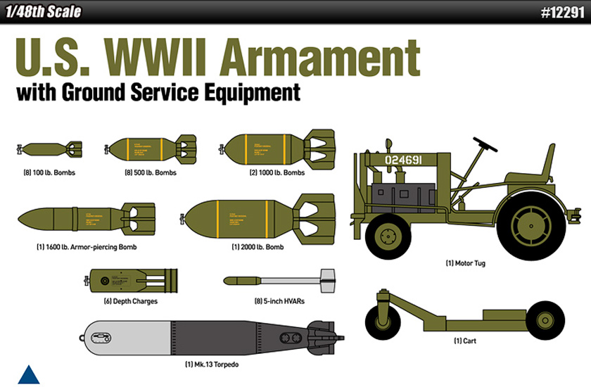 Armements US WWII 1/48