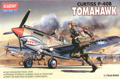 Curtiss P-40B Tomahawk 1/72