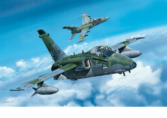 A-1A Ground Attack Aircraft 1/48