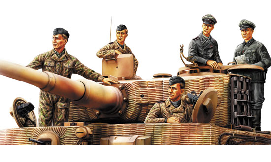German Panzer Tank Crew (Normandy 1944) 1/35