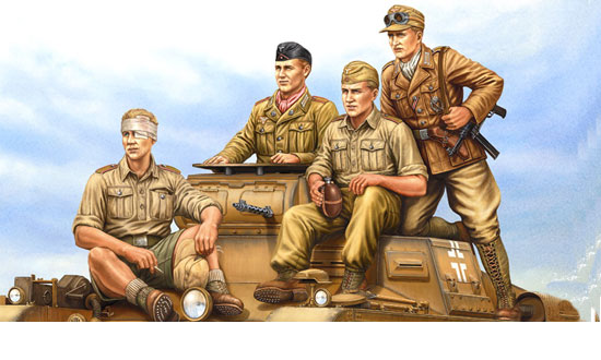 German Tropical Panzer Crew 1/35