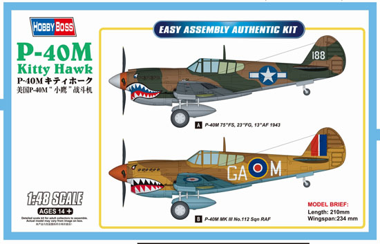 P-40E Kitty Hawk Fighter 1/48