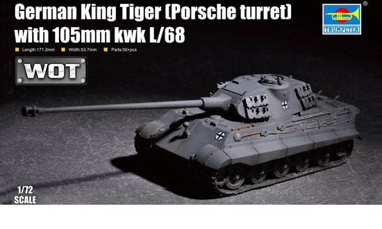 German King Tiger with 105mm kwk L/68 1/72