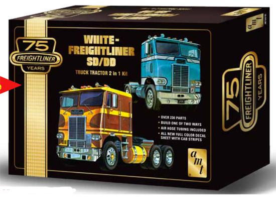 White Freightliner 2-in-1 1/25