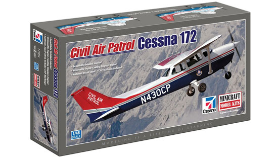 Civil air patrol Cessna 172 1/48