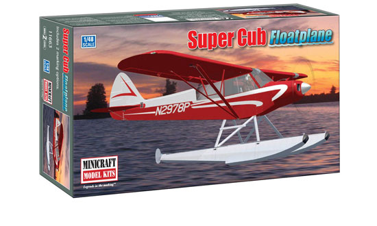 Piper Super Cub hydravion 1/48