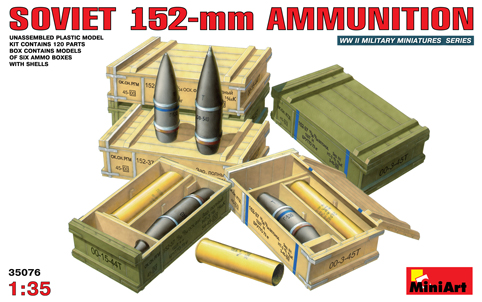 MUNITIONS 152 mm SOVIET.