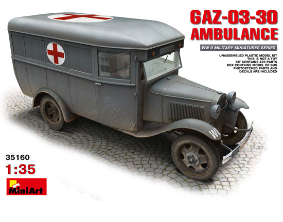 GAZ 03 30 Ambulance 1/35