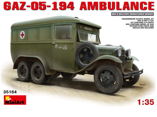 GAZ 05 194 Ambulance 1/35