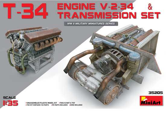T-34 Engine & Trans. set 1/35