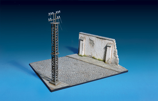 Section de Route + Mur 1/35