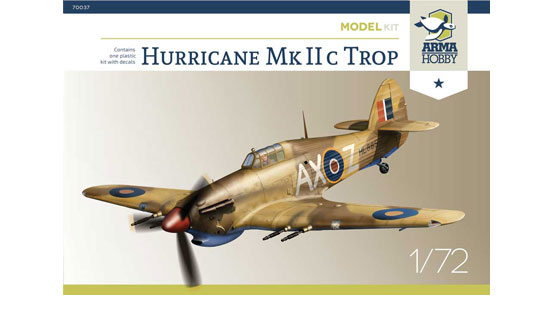 Hurricane Mk IIc Trop Model kit 1/72