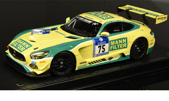 MERCEDES AMG GT3 Mann Filter 24th Nurburing 1/18