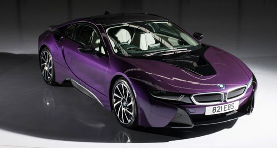 BMW i8 PURPLE PEARL (LHD) 1/18