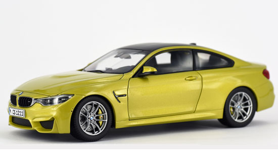 BMW M4 COUPE AUSTIN YELLOW (LHD) 1/18