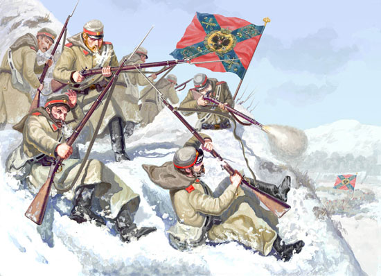 Infanterie Russe Hiver 1/72