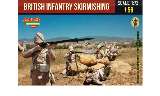 British infantry skirmishing