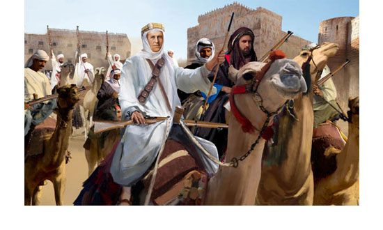 Arab uprising Arab camel riders