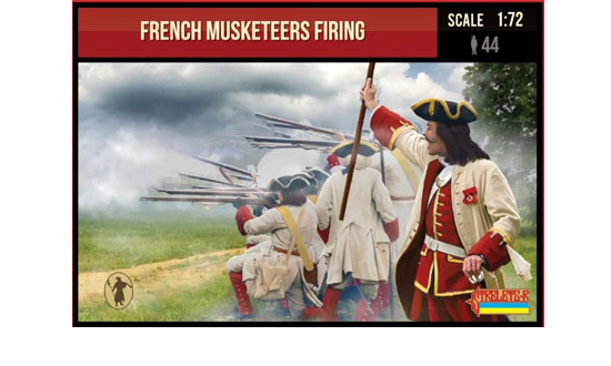 French Musketeers Firing 1/72
