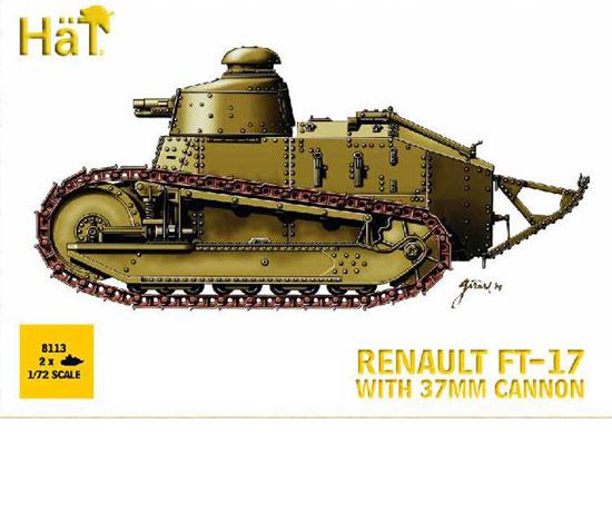 Char Renault FT-17+can.37 1/72