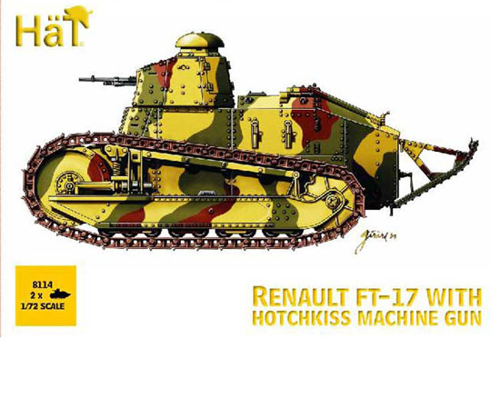 Char Renault FT-17+Hot.mg 1/72