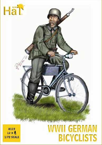 CYCLISTES ALLEMANDS WWII 1/72