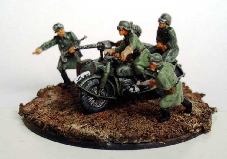 Moto et SideCar All. WWII 1/72