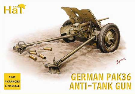 German Pack 36 37mm ATGun 1/72