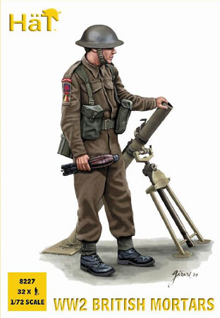 MORTIERS ANGLAIS WWII  1/72