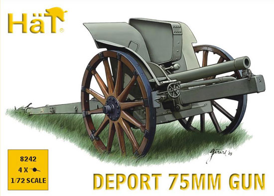 CANON ITALIEN 75mm WWI 1/72