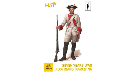 Seven years war Austrians marching 1/72