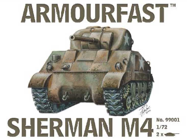 SHERMAN M4 TANK (2pcs)  1/72