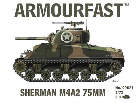 SHERMAN M4A2 75mm 1/72