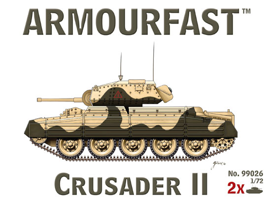 CRUSADER II 1/72 (2 pieces)
