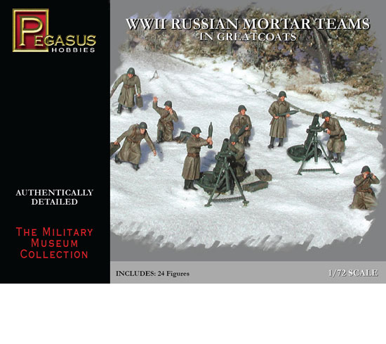 Mortiers Russes en Greatcoats 1/72