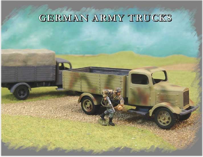 GERMAN ARMY TRUCK (2pcs)  1/72