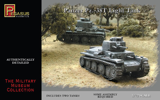 Panzer Pz38(t) Light tank 1/72