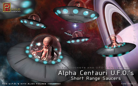 Alpha Centuri UFO (2 pieces)