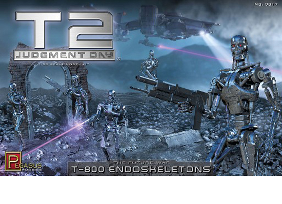 T-800 Endoskeleton Chrome 1/32